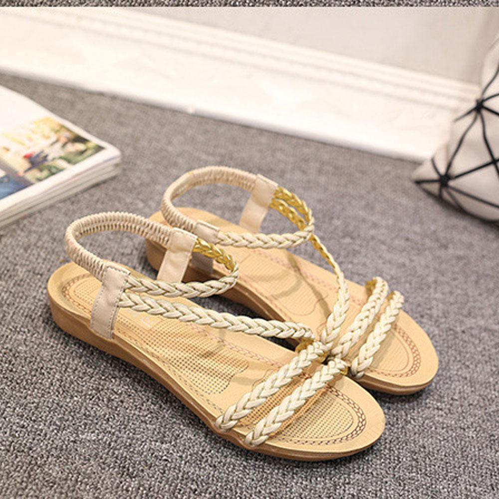 BJL Women's Classic Flat Soft Bottom Beach Sandals Women's Shoes Sunshine China