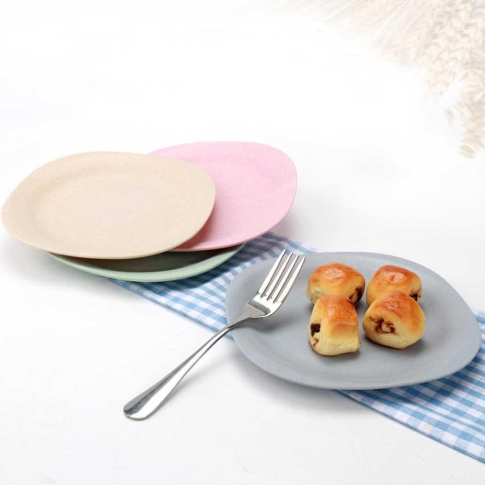 WST Non-Toxin Solid Color Plastic Snack Plates Kitchen Accessories Sunshine China