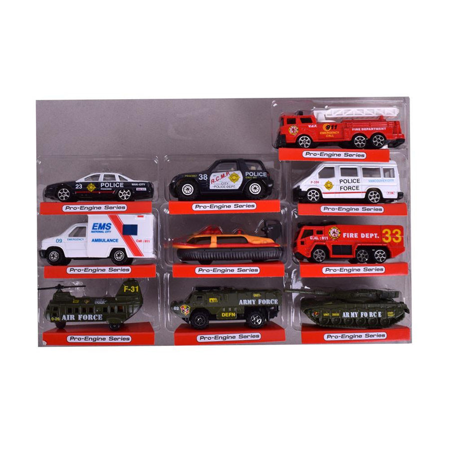 Street Machine Pack of 10 Gift Play Set - ExportLeftovers.com