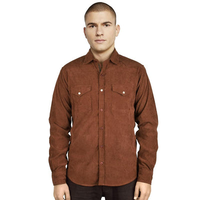 TT Aibling Cotray Long Sleeve Casual Shirt Men's Formal Shirts First Choice Brown S