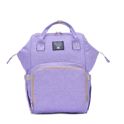 Bebewing Solid Baby Diaper Backpack Bag Women's Accessories Sunshine China Powder Purple