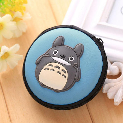 Cartoon Character Headphone Storage Bag Storage Bag Sunshine China Kitten Sky Blue