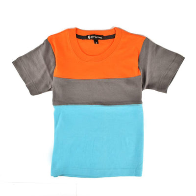Jonathan Corey Kids Panelled Tee Shirt Boy's Tee Shirt First Choice D5 S