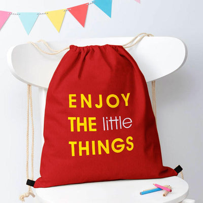 Polo Republica Enjoy Little Things Drawstring Bag Drawstring Bag Polo Republica Red Yellow