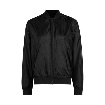 Edremtef Women's Ultra Light Bomber Jacket Women's Jacket AGZ Black XS