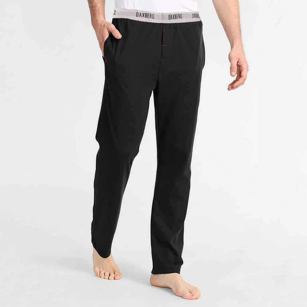 Polo Republica Men's 1-03B20 Pique Casual Lounge Pants Men's Sleep Wear Polo Republica Daxberg Black S