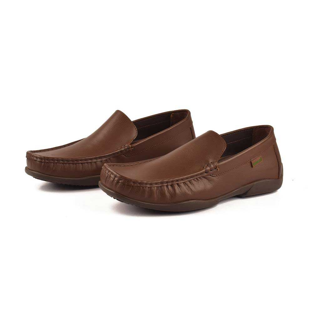Desiderio Toms 030 Genuine Cowhide Burnish Moccasin Men's Shoes Men's Shoes SFS Chocolate EUR 40