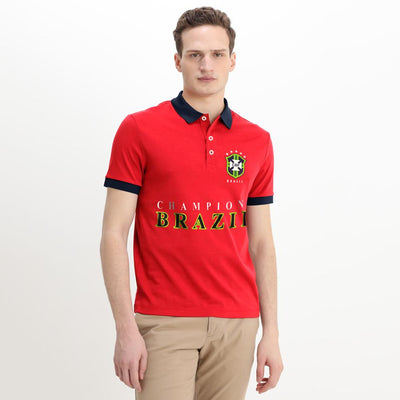 Polo Republica Brazil Champions Polo Shirt Men's Polo Shirt Polo Republica Red Navy S