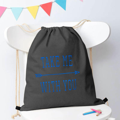 Polo Republica Take Me With You Drawstring Bag Drawstring Bag Polo Republica Charcoal Blue