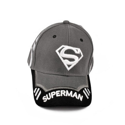 MB Superman Logo Embro P Cap Headwear MB Traders Graphite