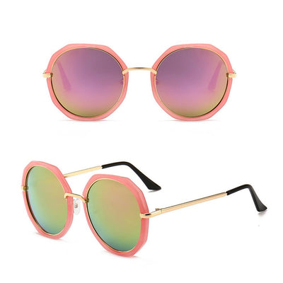 Puglia Frame Round Sunglasses Eyewear Sunshine China Pink
