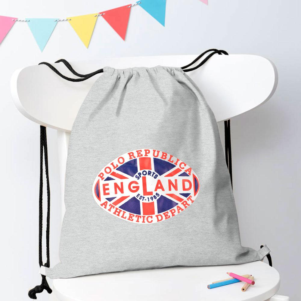Polo Republica Sports England 1985 Drawstring Bag Drawstring Bag Polo Republica Heather Grey