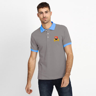 Polo Republica Redruth Rugby Polo Shirt Men's Polo Shirt Polo Republica Graphite Sky Blue S