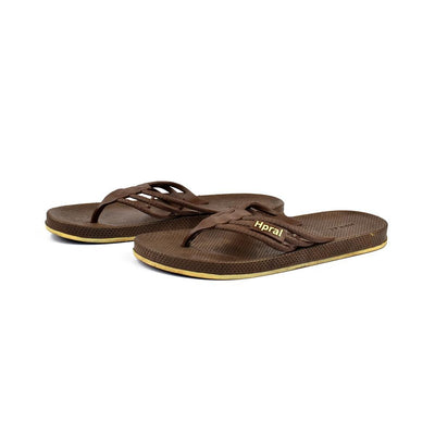 Hpral Men's Burzaco Flip Flop Men's Shoes Hpral Brown EUR 40