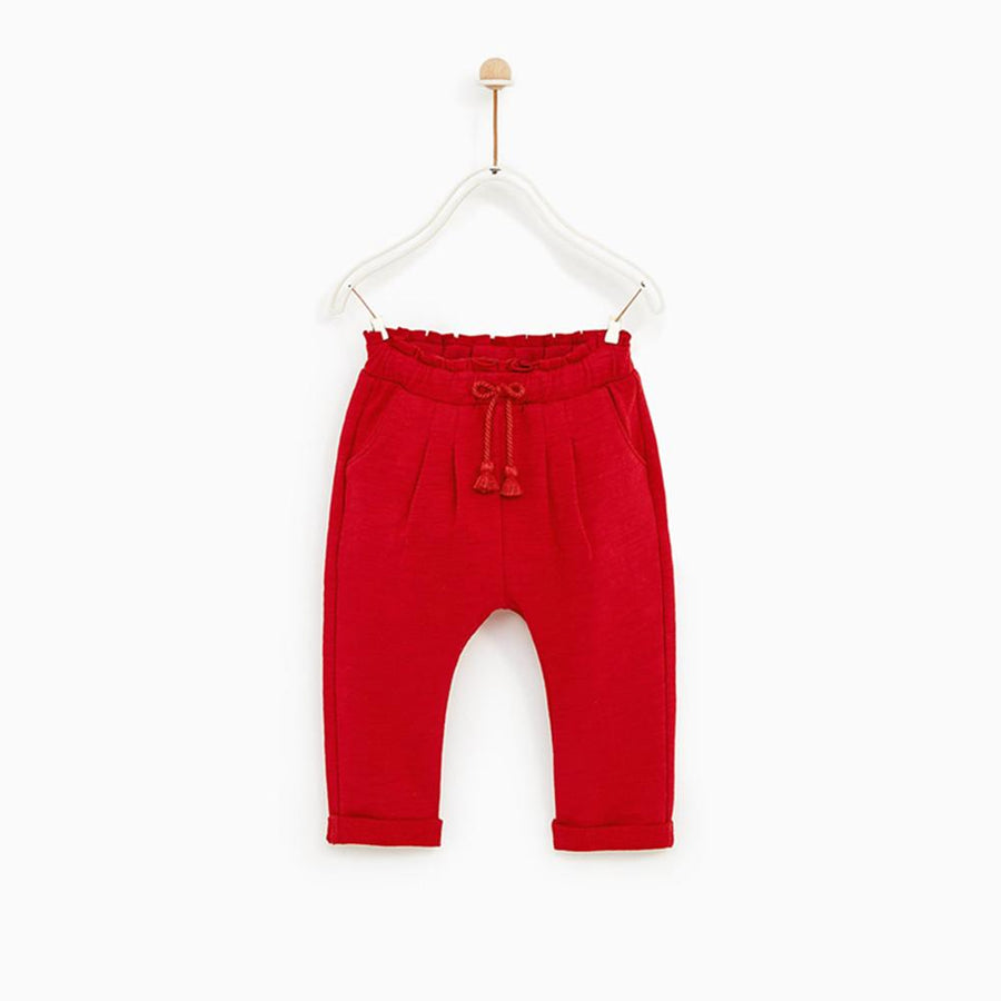 ZR Baby Girl's Harem Terry Trousers