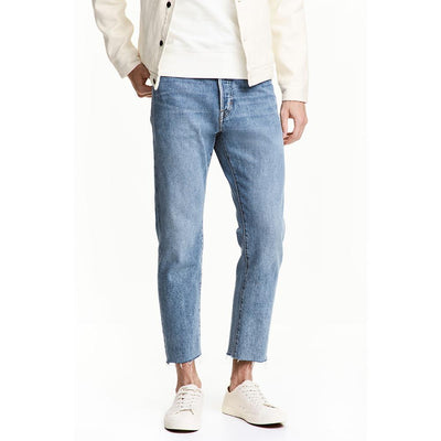 HM Relaxed Cropped High Ankle Style Denim Men's Denim SRK 26 30