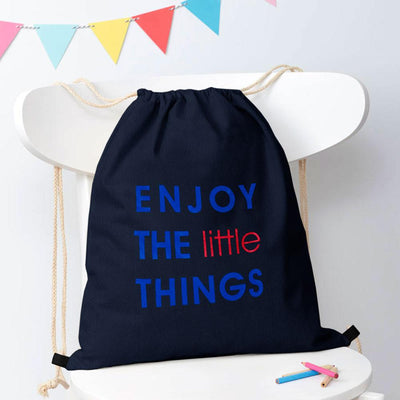 Polo Republica Enjoy Little Things Drawstring Bag Drawstring Bag Polo Republica Navy Royal