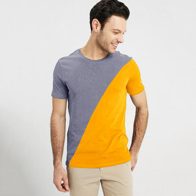 Poler Mthatha Contrast Color Men's Tee Shirt Men's Tee Shirt IBT Graphite Yellow XS