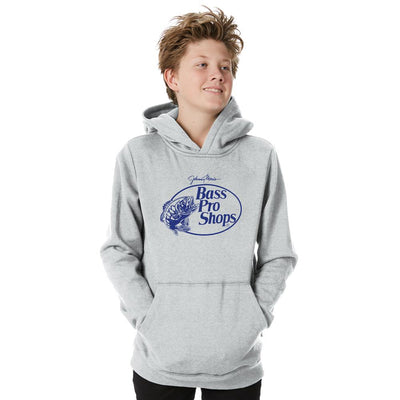BPS Heshan Printed Fleece Boys Pullover Hoodie Boy's Pullover Hoodie NMA Heather Grey Navy XS