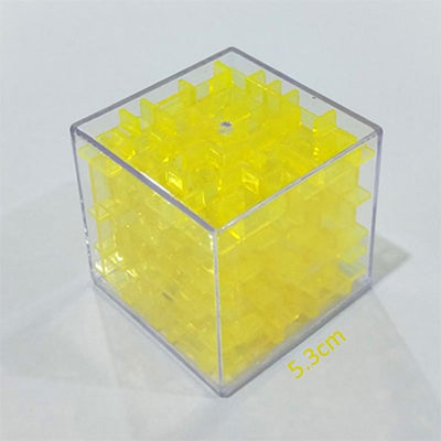 Transparent 3d Beads Intelligence Decompression Rubik's Cube Toy Sunshine China Yellow