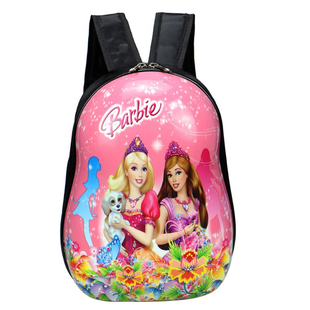Cartoon Character Hard Shell Backpack School Bag Sunshine China Barbie