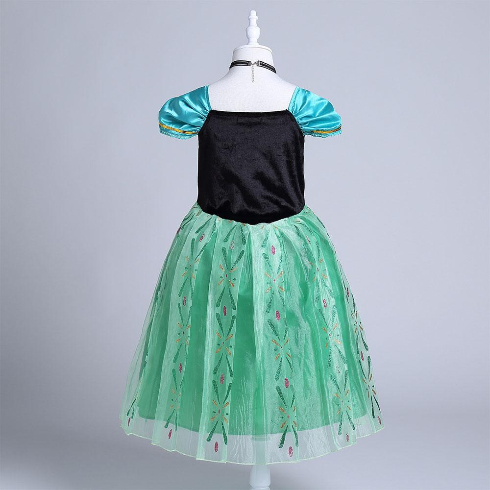 Frozen Princess Anna Sequins Short Sleeve Frock Girl's Frock Sunshine China
