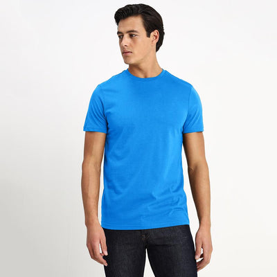 CSG Paulinia Men's Solid Tee Shirt Men's Tee Shirt First Choice Blue S