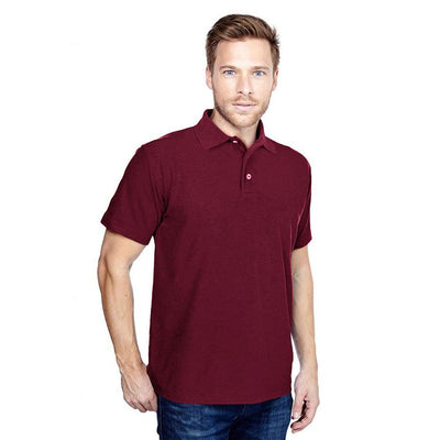 DCK Zeelami Short Sleeve Polo Shirt Men's Polo Shirt Image Burgundy M
