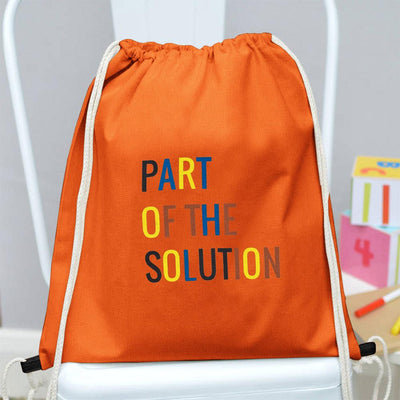 Polo Republica Part Of The Solution Drawstring Bag Drawstring Bag Polo Republica Orange