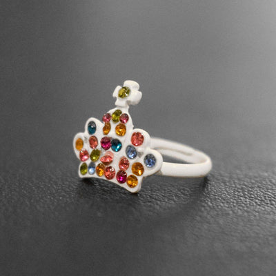 Crystal Crown Design Ring Jewellery Sunshine China White