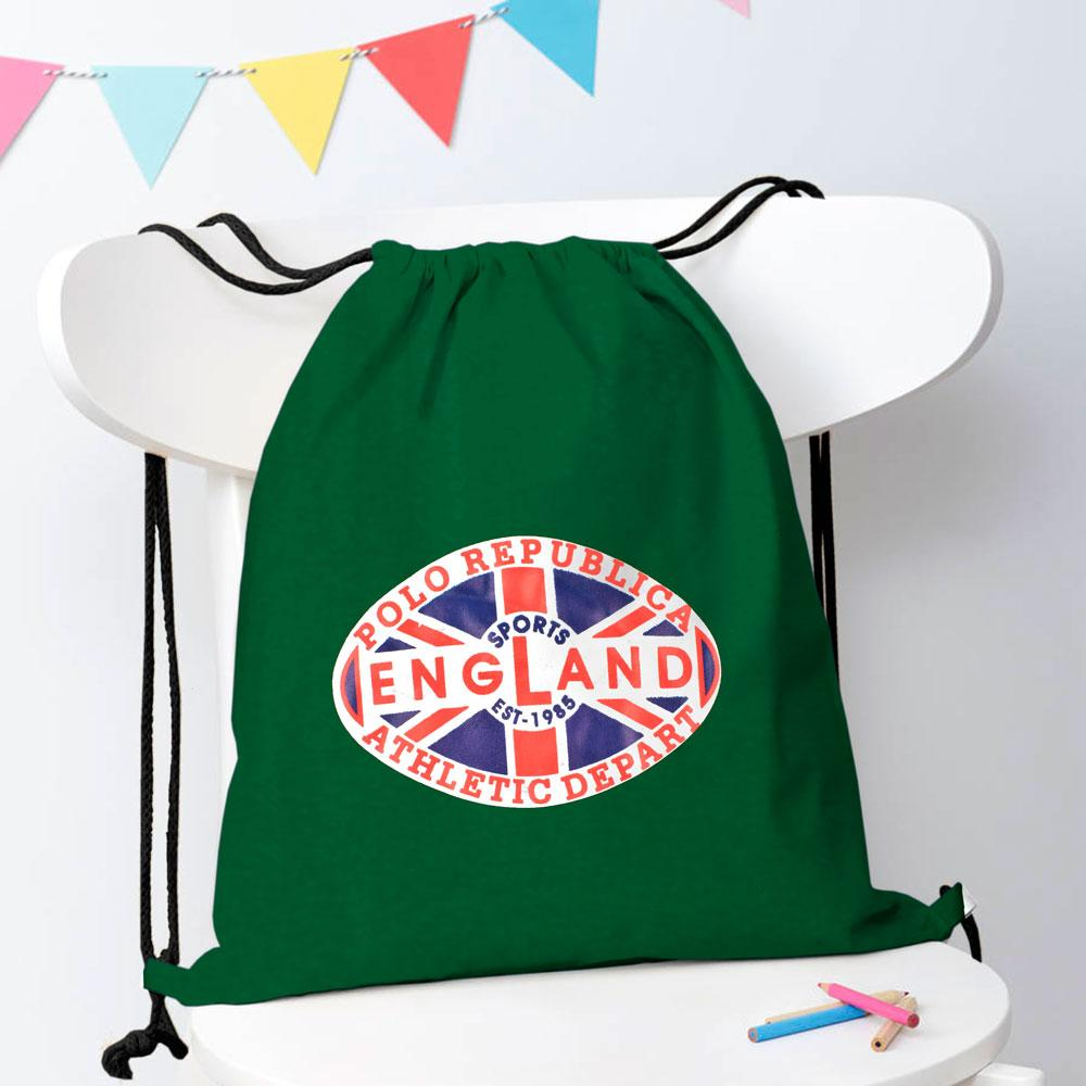 Polo Republica Sports England 1985 Drawstring Bag Drawstring Bag Polo Republica Bottle Green