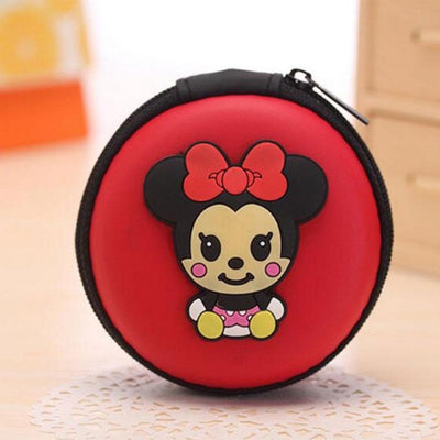 Cartoon Character Headphone Storage Bag Storage Bag Sunshine China Micky Mouse Red