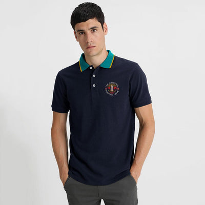 Polo Republica Surfing Dive Polo Shirt Men's Polo Shirt Polo Republica Navy Turquoise S