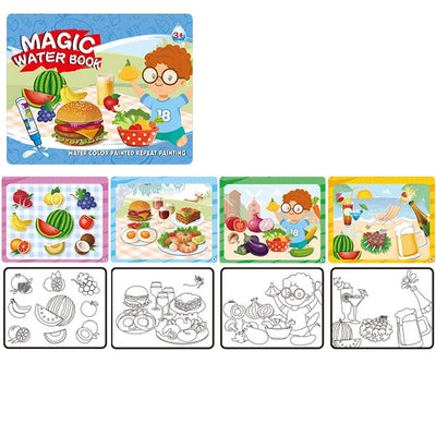 Kid's Magic Water Drawing Book Toy Sunshine China Picnic Point