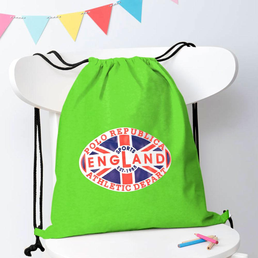 Polo Republica Sports England 1985 Drawstring Bag Drawstring Bag Polo Republica Parrot