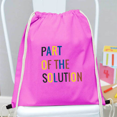 Polo Republica Part Of The Solution Drawstring Bag Drawstring Bag Polo Republica Pink