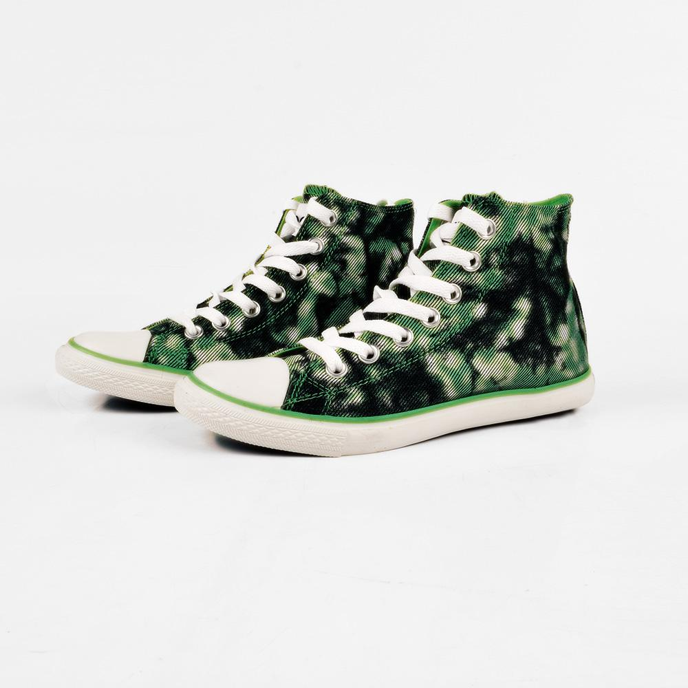 Baoda Women Chengde Ankle High Lace Up Canvas Shoes Women's Shoes AGZ Green EUR 35