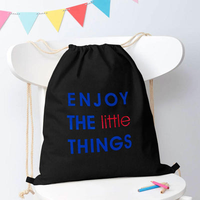 Polo Republica Enjoy Little Things Drawstring Bag Drawstring Bag Polo Republica Black Royal