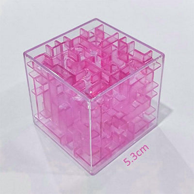 Transparent 3d Beads Intelligence Decompression Rubik's Cube Toy Sunshine China Pink
