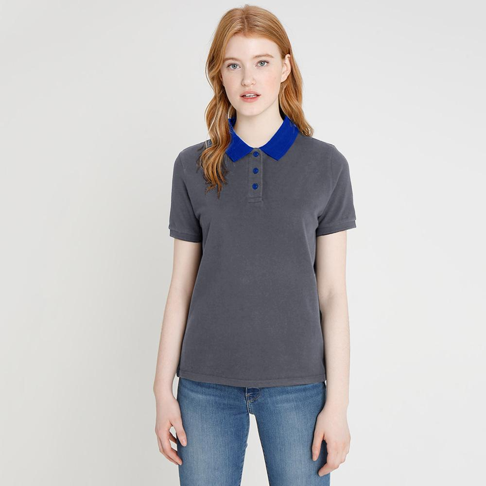 ARCO Women's Contrast Color Polo Shirt Women's Polo Shirt Image Graphite Royal 8