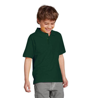 Totga Short Sleeve Polo Shirt Boy's Polo Shirt Image Bottle Green XS