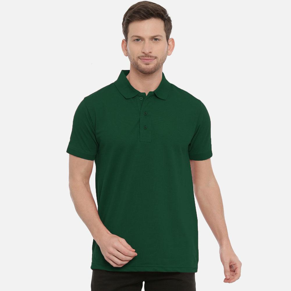 Men's Durham Cut Label Short Sleeve Polo Shirt Men's Polo Shirt SRK Bottle Green S