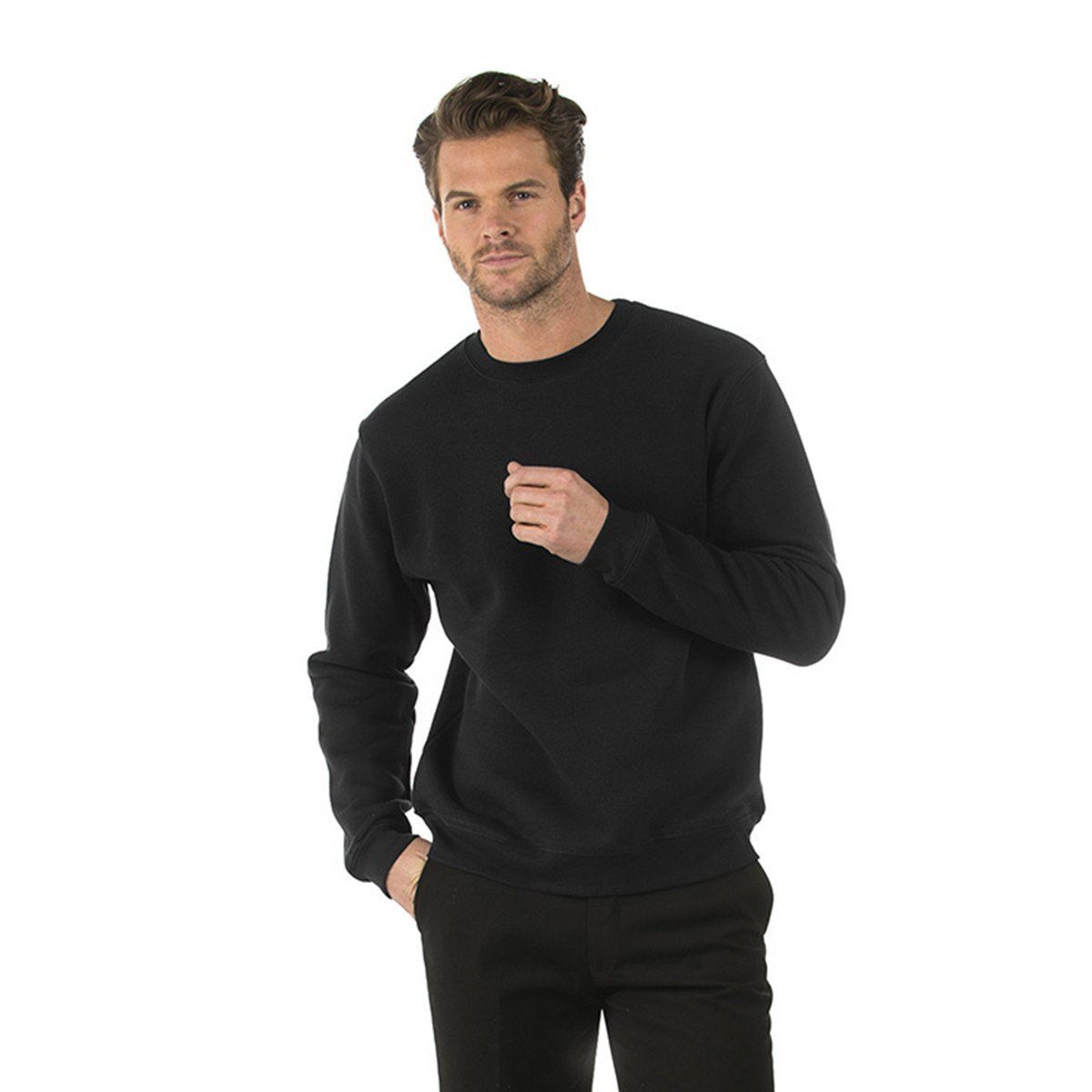 Polo Republica Brushed Fleece Men's Sweat Shirt Men's Sweat Shirt Polo Republica Black XS
