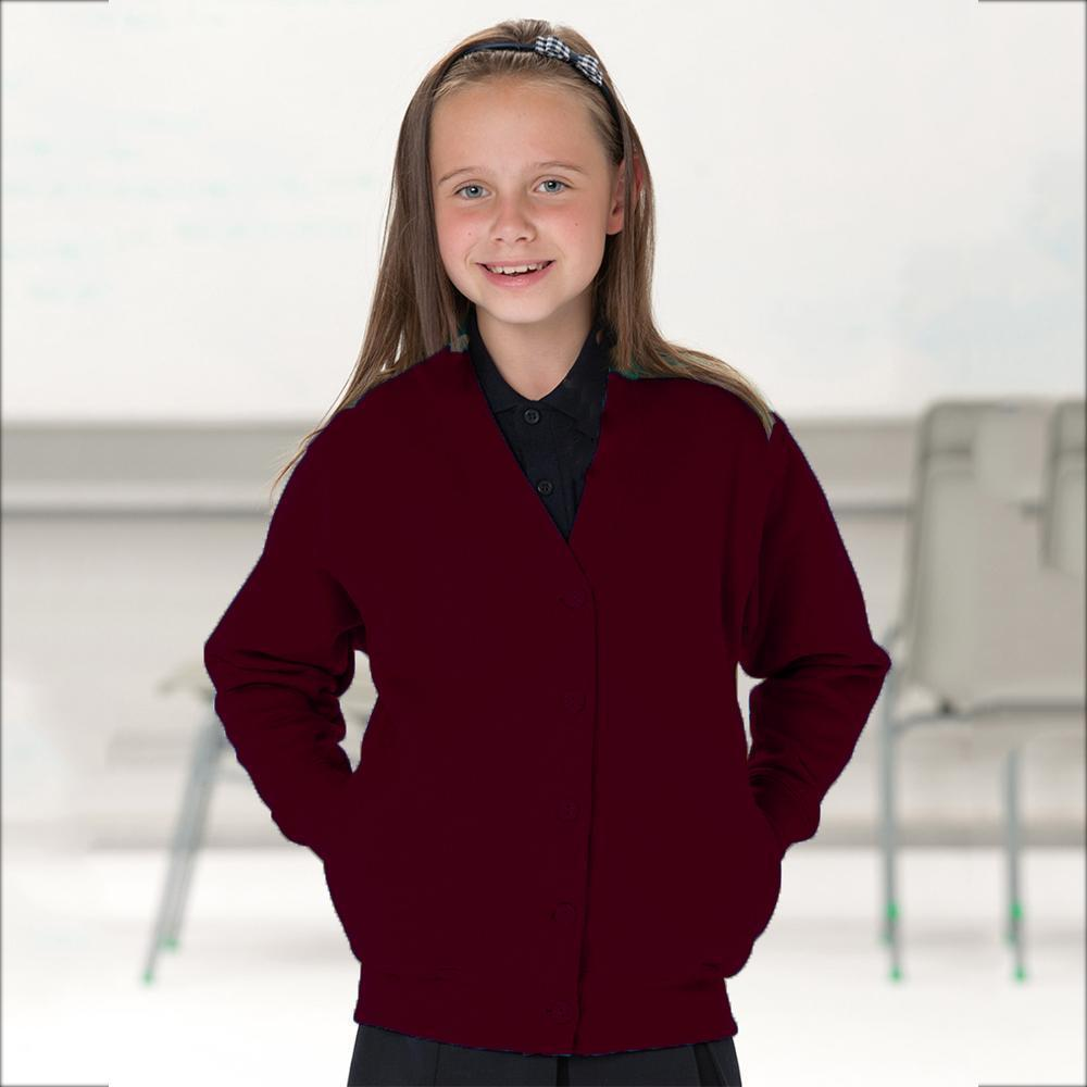 RSL Girl's Minor Fault 8-17A20 V-Neck Sweater Minor Fault SRK Maroon 1-2 Years