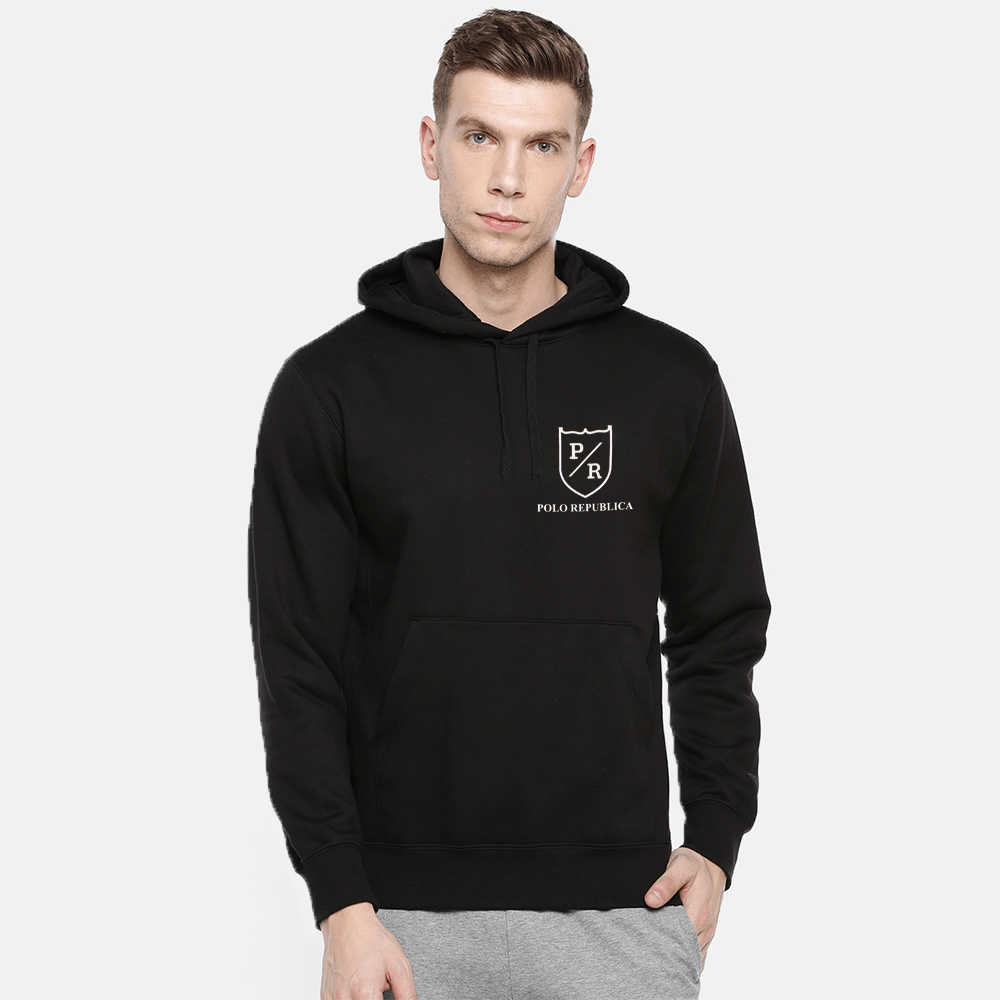 Polo Republica Men's Solid Fleece Pullover Hoodie