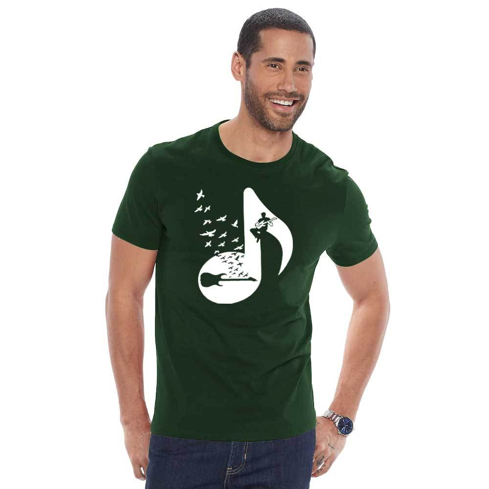 Polo Republica Men's Musical Beats Printed Tee Shirt Men's Tee Shirt Polo Republica Bottle Green S