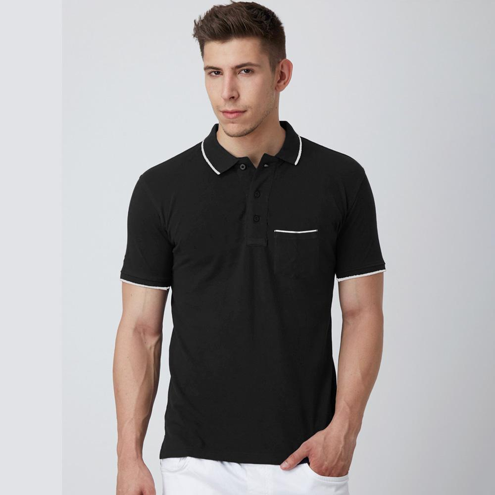 Men's Montpelier Tipped Polo Shirt Men's Polo Shirt SRK Black M