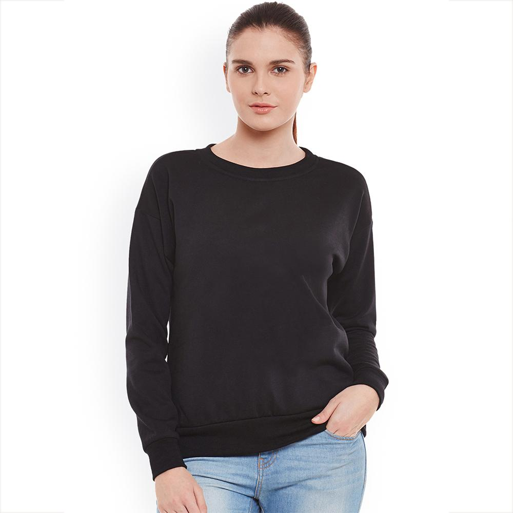 SK Women's Cut Label Deluxe Fleece Sweatshirt Women's Sweat Shirt SRK Black S