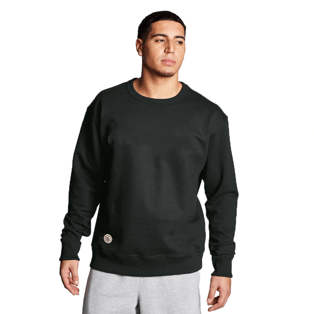 FR Cut Label Men's Placid Fleece Sweat Shirt Men's Sweat Shirt Fiza Black S