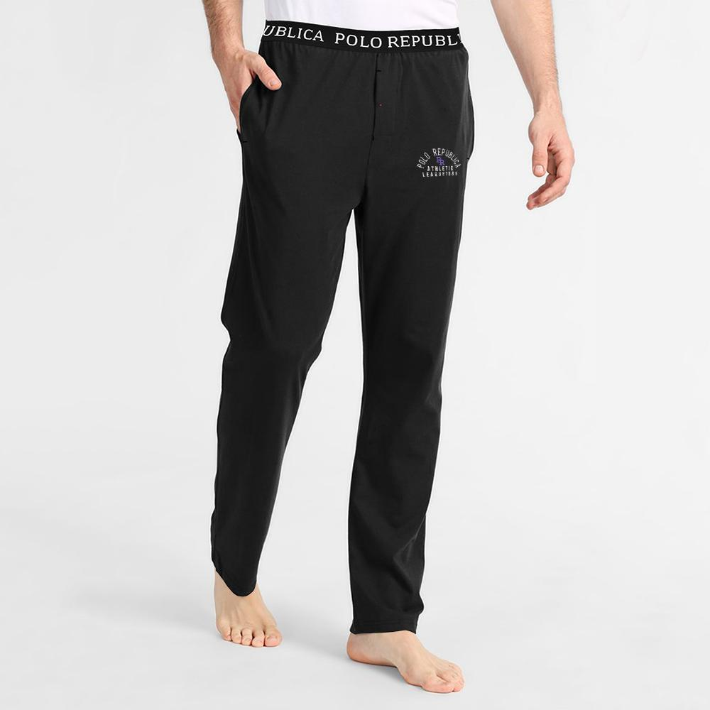 Polo Republica PR Athletic League 1985 Lounge Pants Men's Sleep Wear Polo Republica Black S